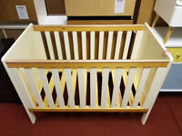 babystart two tone cot bed