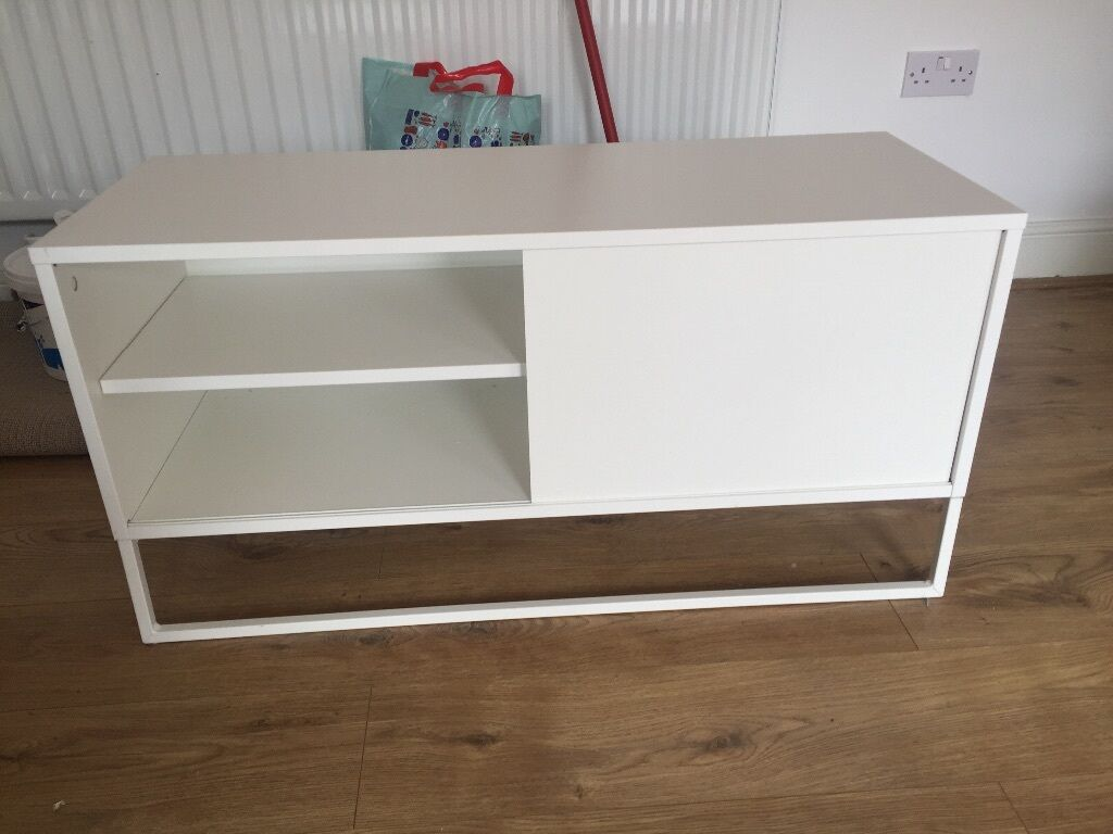 Beautiful IKEA White HAGGE TV stand, very popular!! | in Gateshead ... | title