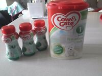 Cow & Gate 1 First Infant Milk (x1 tub of formula and x3 ready to use)