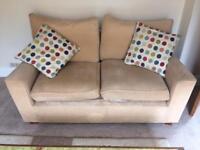 2 Next 2 Seater cream sofas