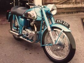 Lovely norton dominator-, lots of history mots, l letters from 1958, original reg plate £7500