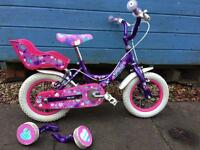Girls Raleigh Bike with stabilisers