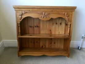 Pine Shelf, wall mounted in excellent condition