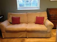FREE DELIVERY Laura Ashley Gold Two Seater Kendal Sofa