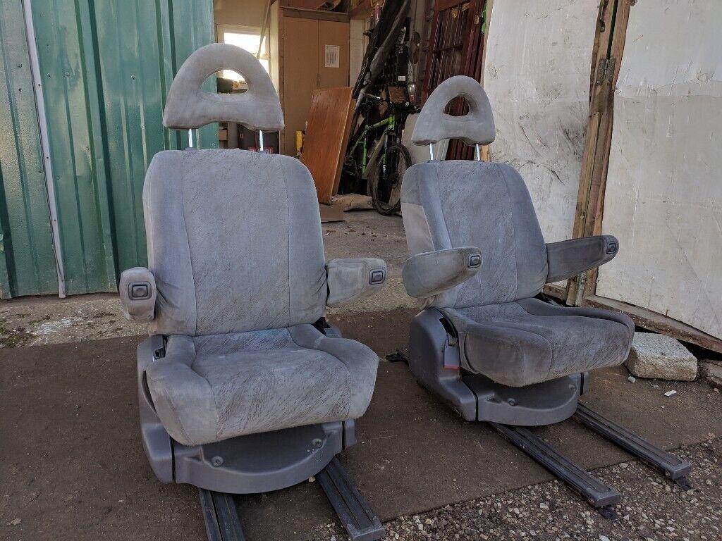 Pair Swivel Captain Seats Twin Armrest VW T4 T5 Camper Van 180 Turn Table  Base Motorhome Conversion | in Methley, West Yorkshire | Gumtree