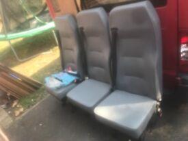 Ford transit rear seats x3