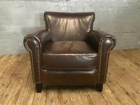 Chesterfield real leather sofa armchair really comfy
