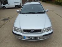 VOLVO V40 DIESEL ESTATE 2002 FSH 1 YEARS MOT ONLY 2 OWNERS EXCELENT CONDITION