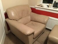 A Very Comfortable, Cream Leather Seat