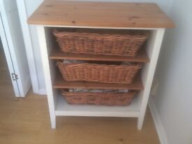 Ikea visalden shelving unit / changing table with baskets