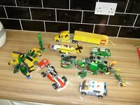 Lego vehicles and figures