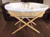 Moses Basket and Stand Good Condition