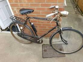 Rod brake bicycle