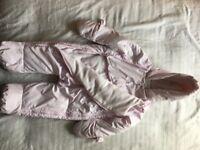 Baby girl snowsuit 12months