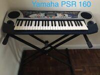 Electric Keyboard YAMAHA PSR-160 with key stand .49 keys