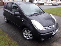 08 REG TOP OF THE RANGE NOTE DIESEL IN BLACK.AUTO LIGHTS.ALLOYS.PARKING SENSORS.FAB SERVICE HISTORY
