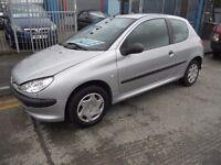 (2004) PEUGEOT 206 , 1.1.CC ,LOW TAX & INSURANCE ..IDEAL FIRST CAR.......
