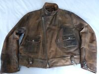 Genuine Chevignon Leather Jacket - Worn Twice