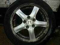 4xhonda alloy wheels mint cond centre caps