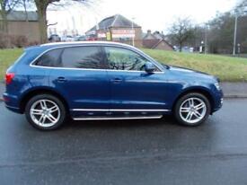 AUDI Q5 2.0 TDI QUATTRO SE 5d AUTO 175 BHP (blue) 2013