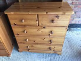 Pine chest of draws free delivery