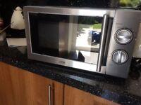 Logik stainless steel microwave