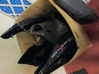 BOX OF BLACK BRP CAN-AM SPYDER RS PLASTIC PARTS