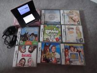 Nintendo ds and 19 games, case and charger
