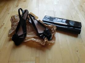 M&S shoes and clutch bag
