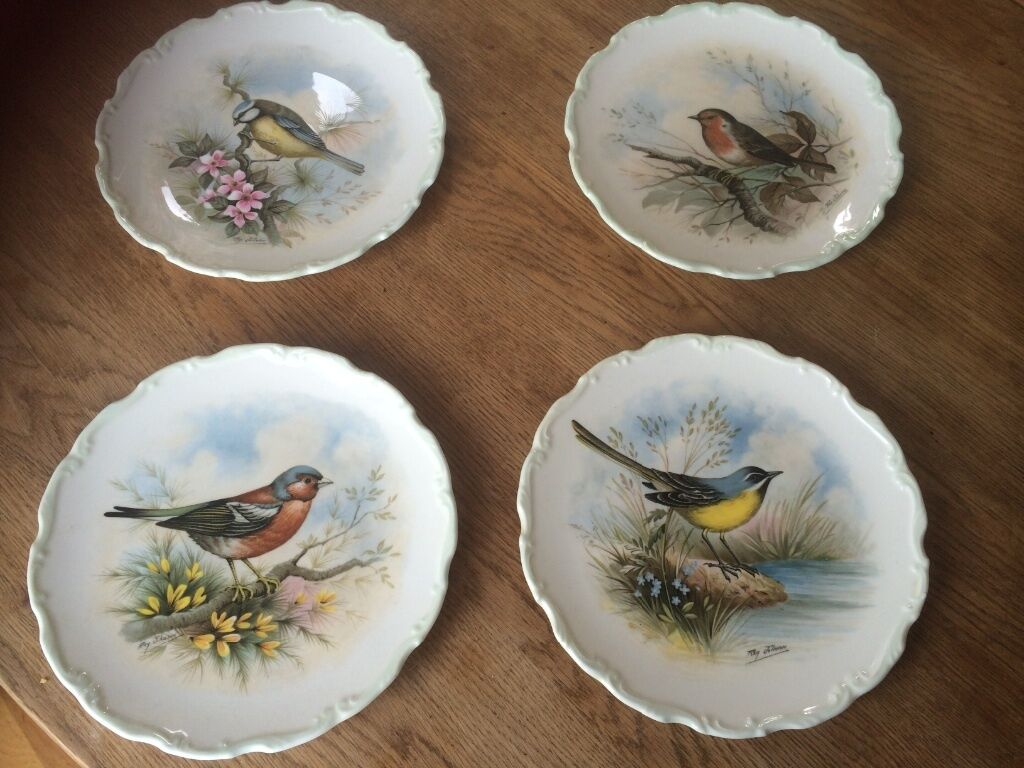 Four Royal Albert Bone China Plates From The Woodland
