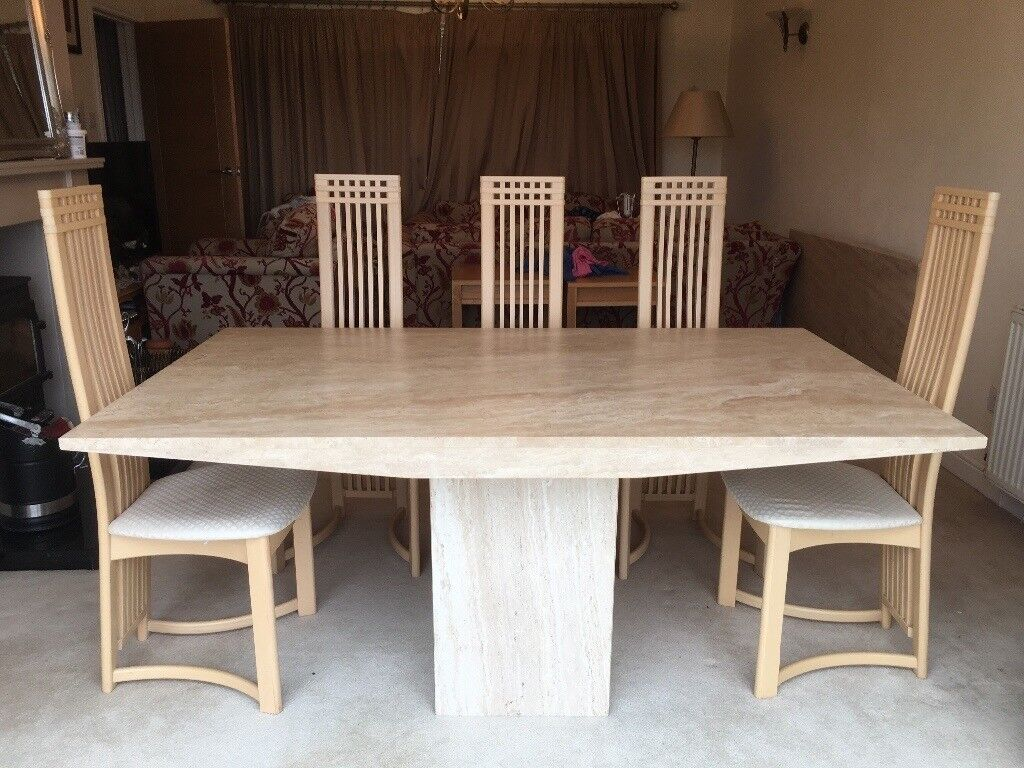 Marble Dining Table Seats Up To Eight