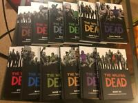The Walking Dead. Graphic novel comic book. 12 issues per book (annual release).