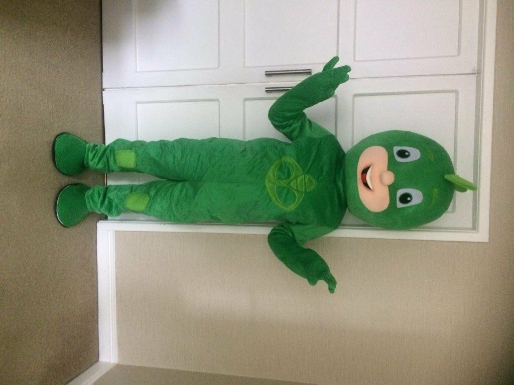 PJ MASK fancy dress green Gekko MASCOT COSTUME ADULT SIZE £139.99 plus £13 postage