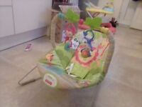 Jungle themed baby bouncer chair