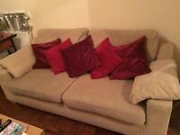 Beige 3 seater & 2 seater sofas for sale.