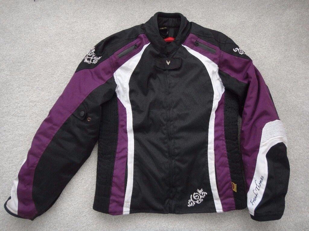 Frank Thomas motor bike jacket lady XL black/ white/purple