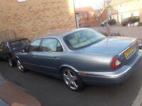 2004 jaguar super v8 top of the range xj350 met blue cream piped leather