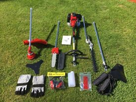 52cc Petrol 5 in 1 Garden Multi Tool Hedgetrimmer Strimmer Chainsaw