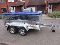 CAR TRAILER TWIN AXLE TRAILER 750 kg + MESH