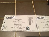 2 tickets for James concert at Sheffield O2 Academy, Friday 9th December - £50