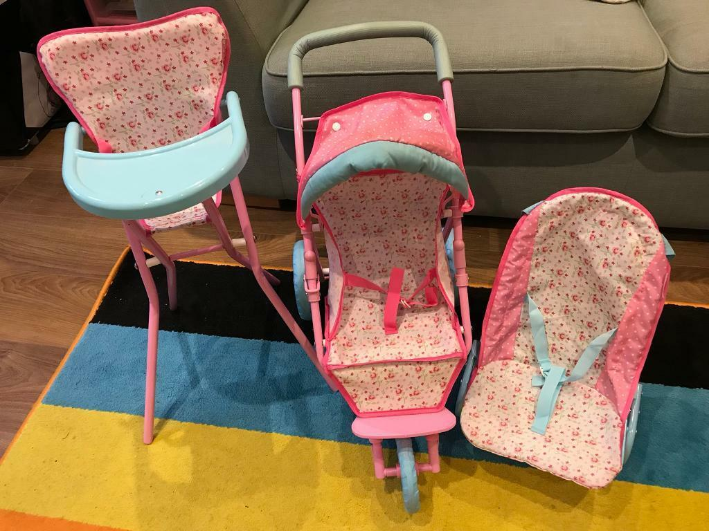 Oran, bouncer and high chair set