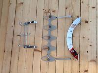 Set of three over the door hanging rack / hook hanger