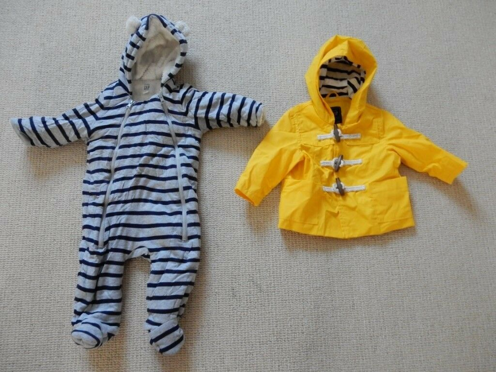 5a4ec6cb9b X2 Gap All in one pramsuit and fisherman style coat both 6-12 months unisex