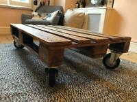 Industrial style solid wood pallet coffee table