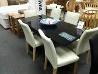 Table + 6 chairs - British Heart Foundation sco39624
