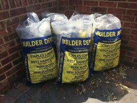 Rubble bags Jumbo size Builders depot *120 bags – Heavy duty waste bags 560mm x 890mm
