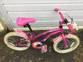 """Girls Apollo bike Pink pop star 16"""" wheels £10"""
