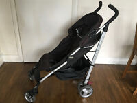 'Chicco Liteway' Stroller. Grey & Black lightweight and easily foldable stroller great for travel.
