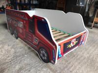 Kids Fire Engine bed with foam mattress