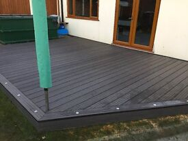 MODERN CONTEMPORARY DOUBLE SIDED COMPOSITE DECKING BOARDS 4.88m LONG x80 available